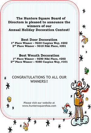 Holiday Door Contest